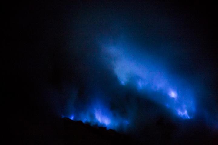 Blue fire - niebieski ogień na Ijen
